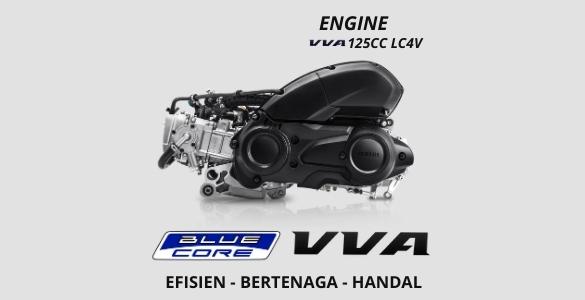 Liquid Cooled 125 cc Blue Core Engine