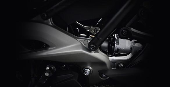 Asymmetric CF die-cast aluminium swingarm.