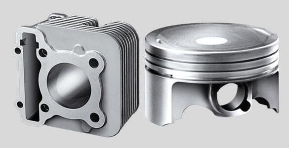 Forged Piston & DiASil Cylinder