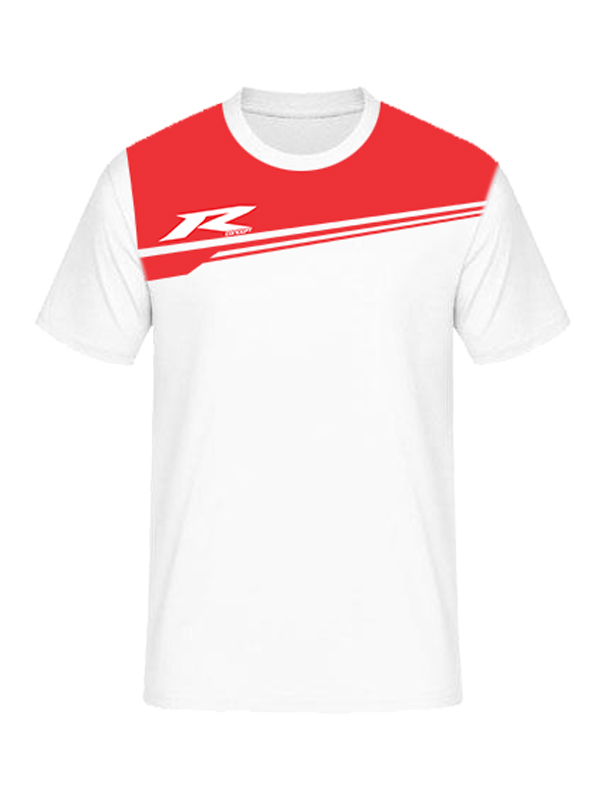 T-Shirt R concept R03 White Red