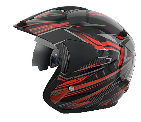 Safety Rider Wajib Punya Helm YJ-N10 King GT Black Red